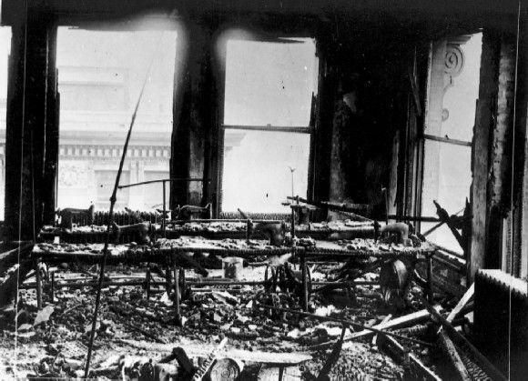 Imagen de la 9ª planta del edificio después del incendio