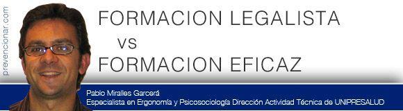 Formación Legalista vs Formación Eficaz