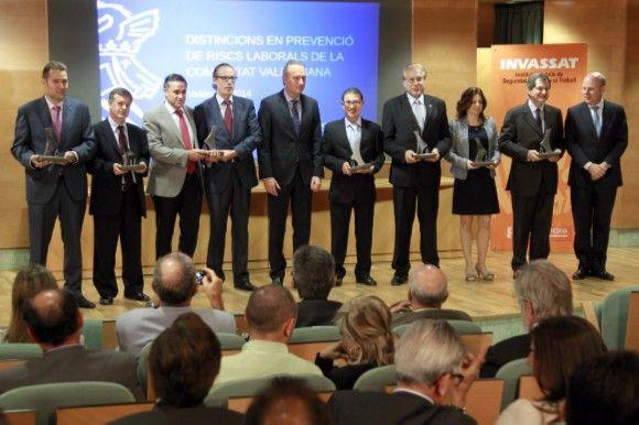 La Generalitat premia a siete empresas por prevención de riesgos laborales