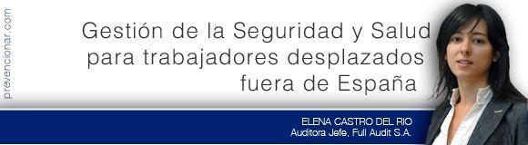 Gestión de Seguridad y Salud para trabajadores desplazados fuera de España