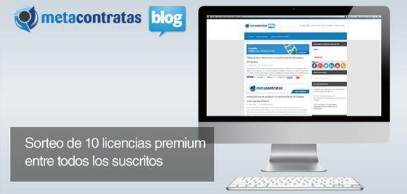 """Sorteo de 10 licencias """"Premium"""" para el software de Coordinación MetaContratas"""