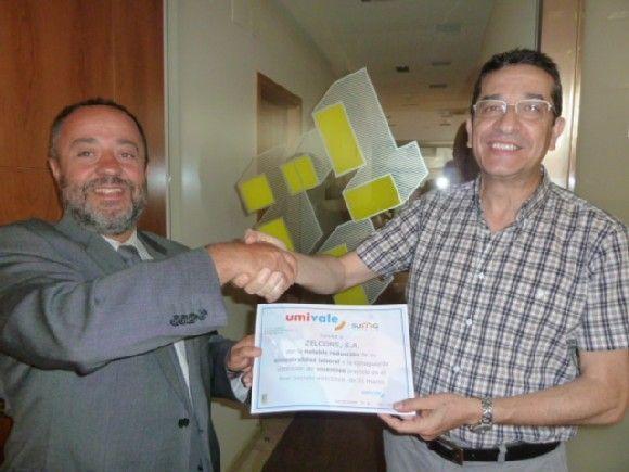 umivale reconoce la labor en prevención de tres empresas de la zona de San Cugat