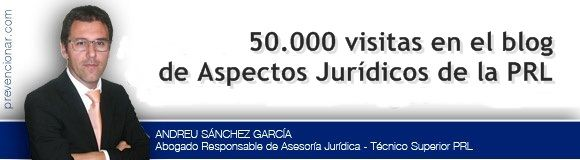 50.000 visitas en el blog de Aspectos Jurídicos de la PRL