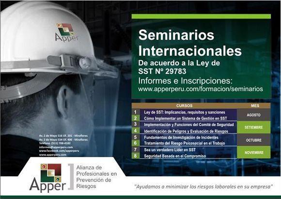 Seminarios Internacionales en Seguridad y Salud en el Trabajo en #Perú