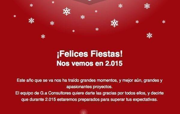 ¡Felices Fiestas! Nos vemos en 2.015