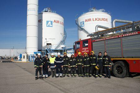Air Liquide realiza un simulacro en sus instalaciones de Cabanillas