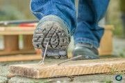 Accidentabilidad laboral en España. Protección de pies y piernas
