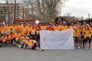 144 colaboradores de Novartis corren en la Media Maratón de Barcelona