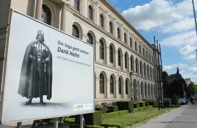 Darth Vader promociona la seguridad vial para ciclistas en Alemania