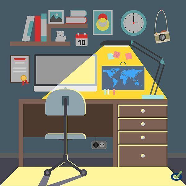 Infografía: 8 claves para ser productivo desde casa
