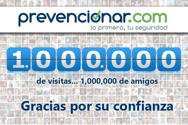 Nuestra página web alcanza el millón de visitas. Gracias