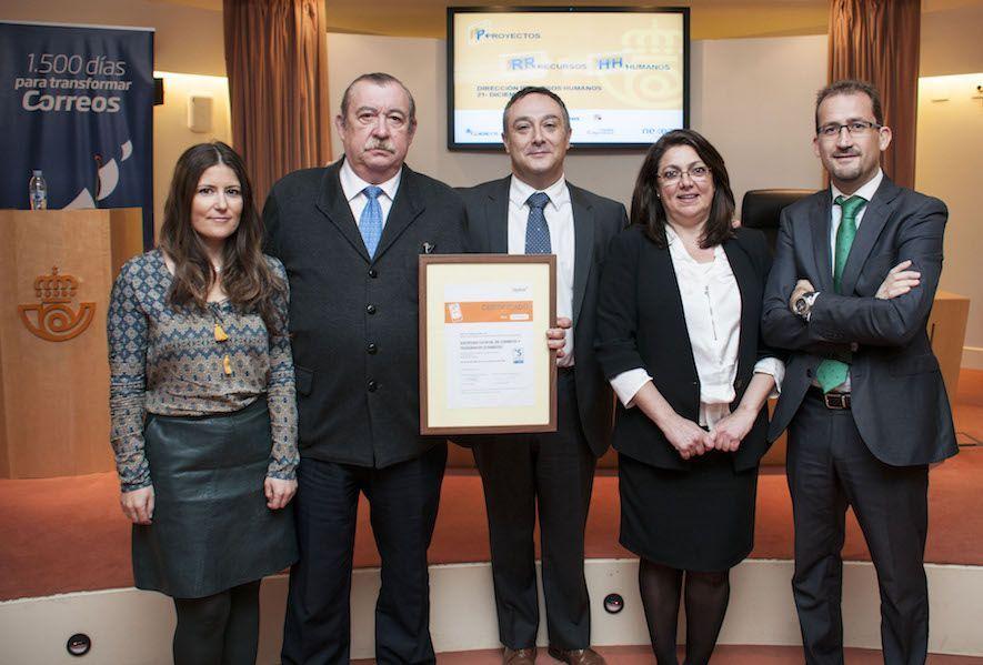 Correos recibe la certificación de Empresa Saludable
