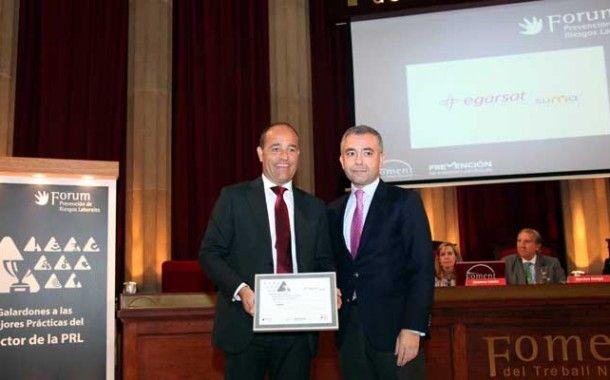 Egarsat, premiada por el Forum PRL de Fomento del Trabajo