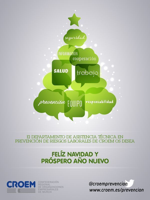CROEM prevención os desea Feliz Navidad y Próspero Año Nuevo