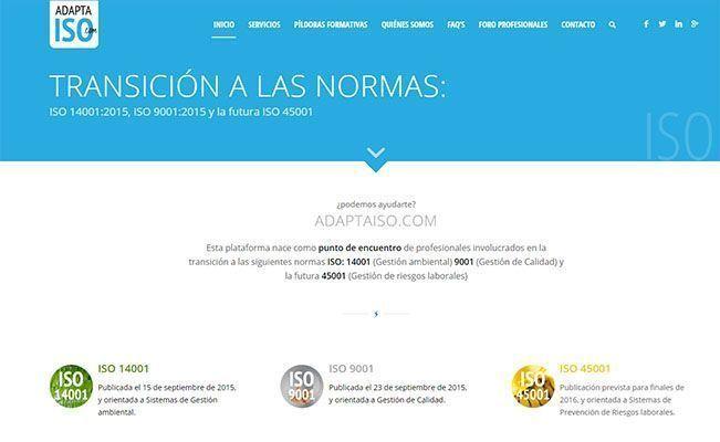 Disponible Adaptaiso.com, una web de apoyo para las ISO 14001, 9001 y la futura 45001