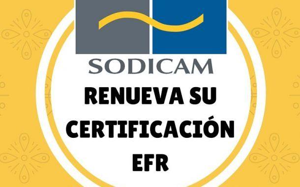 SODICAM renueva su certificado EFR