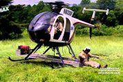 Mantenimiento Lineas Alta Tensión con Helicóptero