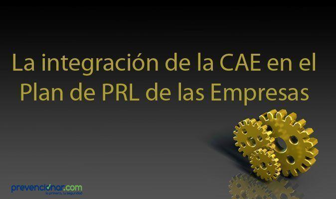La Integración de la CAE en el Plan de PRL de las Empresas