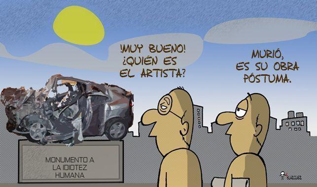 Si no prevencionas al volante puedes acabar así..............