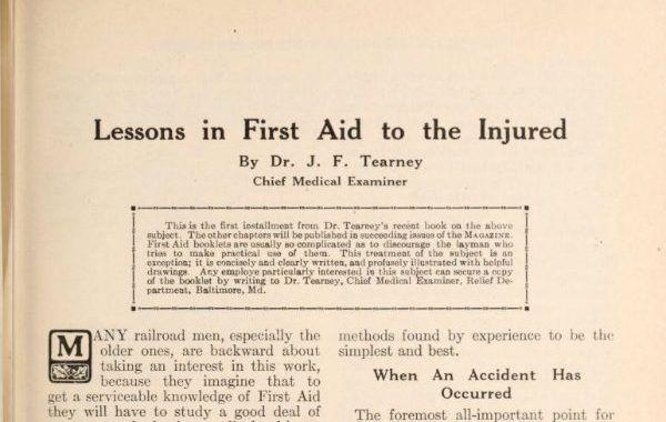 Los primeros auxilios en 1915
