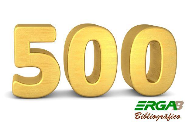 Erga Bibliográfico cumple su número 500