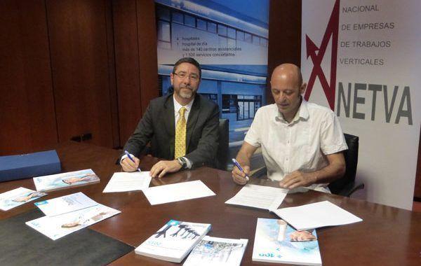 Asepeyo y Anetva colaborarán en materia de Seguridad y Salud en trabajos verticales