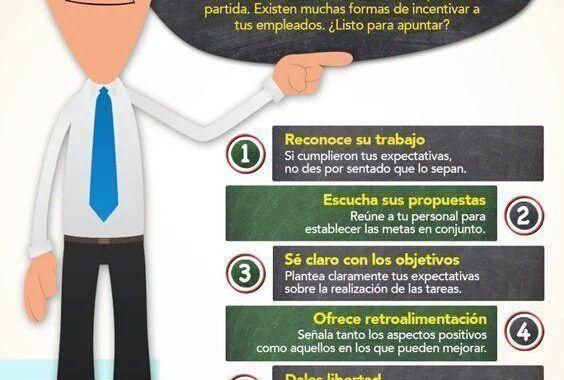 Infografía - 8 acciones de motivación para empleados
