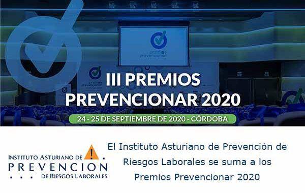 El Instituto Asturiano de Prevención de Riesgos Laboralesse suma a los Premios Prevencionar 2020