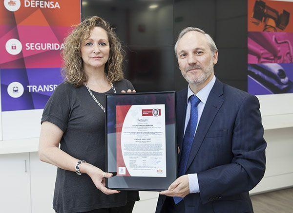 Thales España certifica sus Sistemas de Gestión de Prevención de Riesgos Laborales