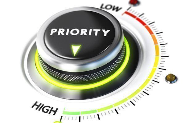 Actividades prioritarias en función de la siniestralidad