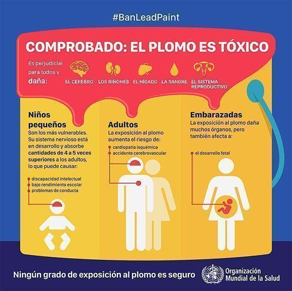 Semana internacional de prevención de la intoxicación por plomo