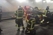 Simulacro de accidente en los túneles de la M30
