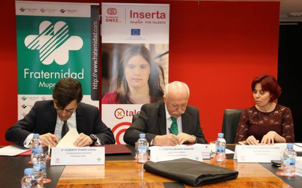 Fraternidad-Muprespa y Fundación ONCE colaboran para fomentar la inserción laboral de personas con discapacidad