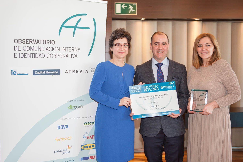 Campofrío España premiada por su Estrategia de Comunicación Interna