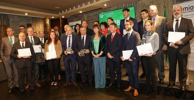 Fraternidad-Muprespa entrega los Premios Escolástico Zaldívar a la prevención y la salud