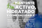 En JUNIO, mantente activo, hidratado y come saludable