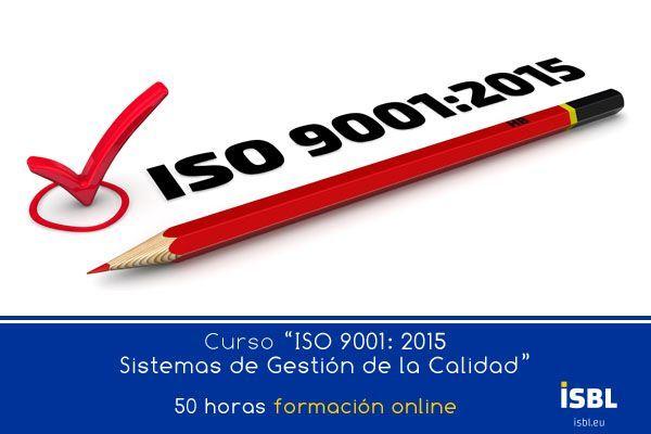 Curso OnLine - ISO 9001: 2015 Sistemas de Gestión de la Calidad
