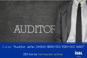 Curso OnLine: Auditor Líder: ISO 9001 + ISO 14001 + ISO 45001