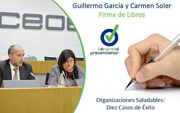 Congreso Prevencionar: Firma de libros Guillermo García y Carmen Soler