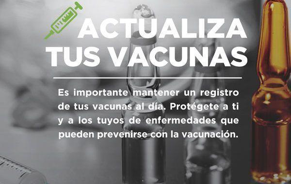 Actualiza tus vacunas