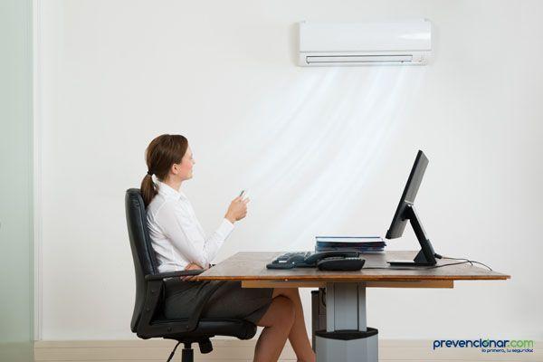 Uso saludable del aire acondicionado en el trabajo