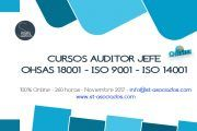 Último día de Matricula: Auditor Jefe OHSAS 18001 - ISO 9001 - ISO 1400