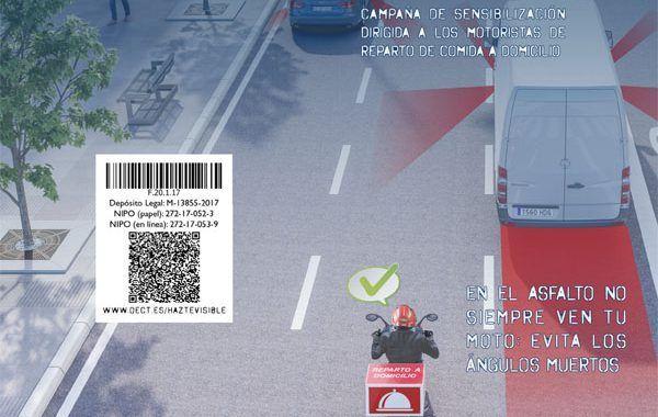¡HAZTE VISIBLE! Una iniciativa del INSSBT para mejorar la seguridad del motorista de reparto