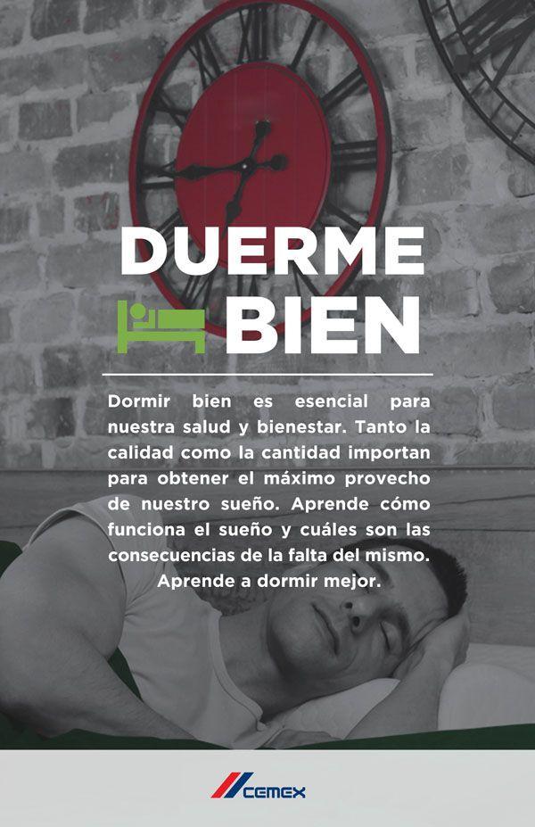 Consejos de CEMEX a sus trabajadores para que aprendan a dormir mejor