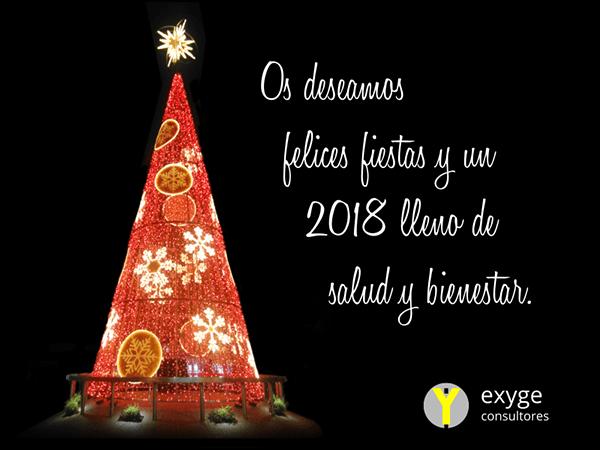 Os deseamos felices fiestas y un 2018 lleno de salud y bienestar