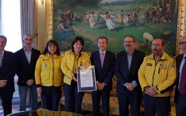 SAMUR-Protección Civil Recibe El Certificado De Gestión De Emergencias (ISO 22320)