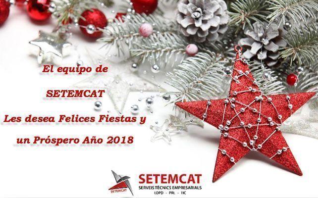 El equipo de SETEMCAT les desea Felices Fiestas y un Próspero Año 2018