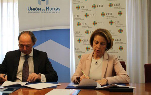 Los alumnos de la Universidad CEU Cardenal Herrera realizarán prácticas en los centros asistenciales de Unión de Mutuas