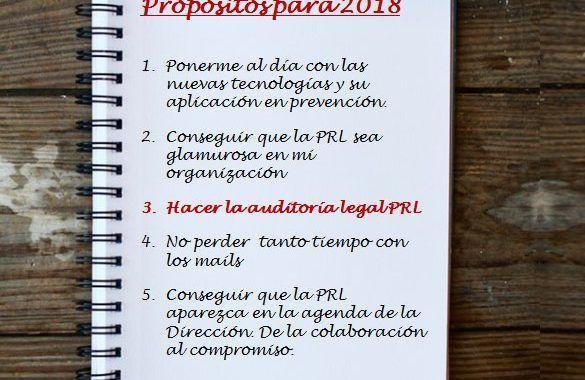 Propósitos para el 2018: Hacer la auditoría legal PRL