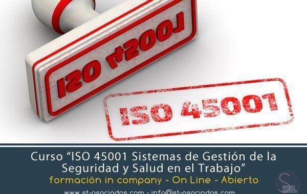"""Curso In Company: ISO 45001 """"Sistemas de Gestión de la Seguridad y Salud en el Trabajo"""""""